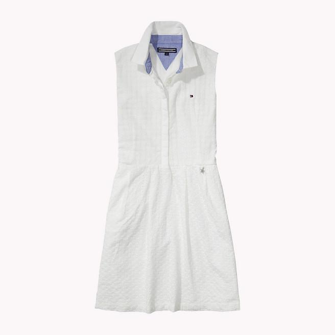 Φόρεμα λευκό κιπούρ πόλο αμάνικο (FLORENCE DRESS S S) – Meli Melo eShop b006326ca42