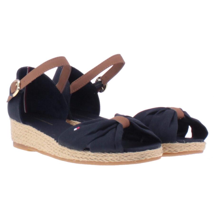 08e92b41de4 Παπούτσια πέδιλα πλατφόρμες σε μπλε navy με καφέ λεπτομέρειες (KRISTIN 1C)