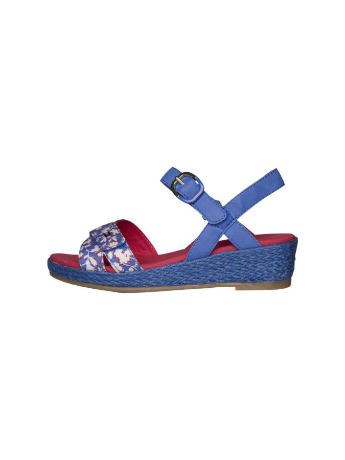 afa501974e Παπούτσια πέδιλα πλατφόρμες σε μπλε ρουά floral (KRISTIN 2C) – Meli ...