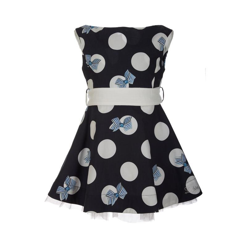 Φόρεμα αμάνικο πουά μπλε λευκό (71E3458) – Meli Melo eShop 17957c428c9