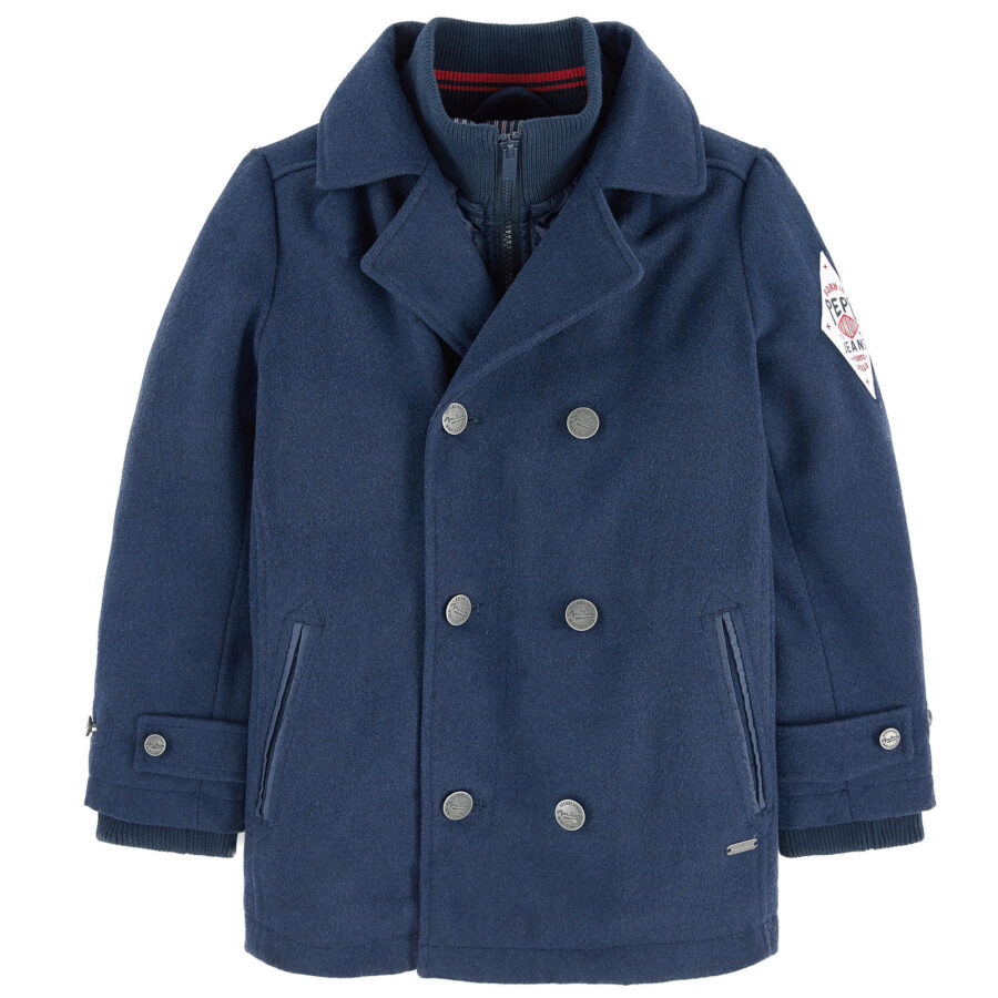 01083a10b52 Μπουφάν παλτό μπλε (ROLAND JR) – Meli Melo eShop