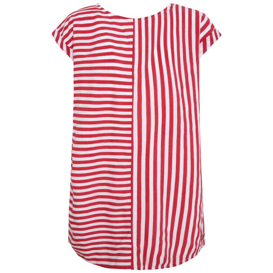 Φόρεμα ριγέ λευκό κόκκινο(PG951202) – Meli Melo eShop 6d102e4af02